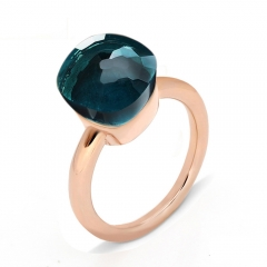 LLATO NUDO ™ Ring IN ROSE GOLD WITH BLUE LONDON TOPAZ Hot Sale