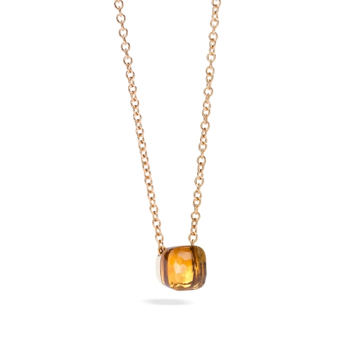 LLATO NUDO ™ PENDANT WITH  MADEIRA AND CHAIN IN ROSE GOLD