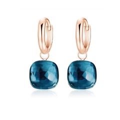 LLATO NUDO ™ EARRINGS IN ROSE GOLD WITH LONDON BLUE TOPAZ HOT SALE