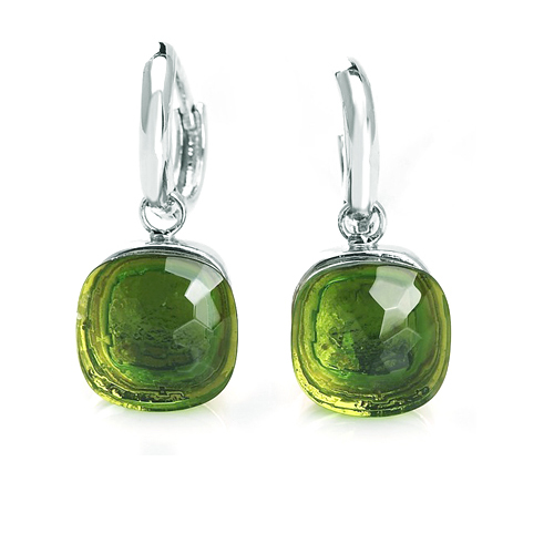 LLATO NUDO ™ EARRINGS IN  925 STERLING SILVER WITH PRASIOLITE