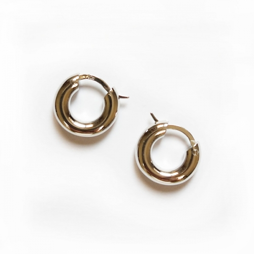 CARWENIYA® 925 sterling silver hoop earrings return to the ancients concise style