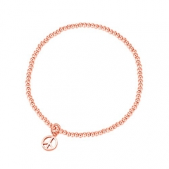 CARWENIYA® Plated Rose Gold With Charm 2. 5mm bead Bracelets