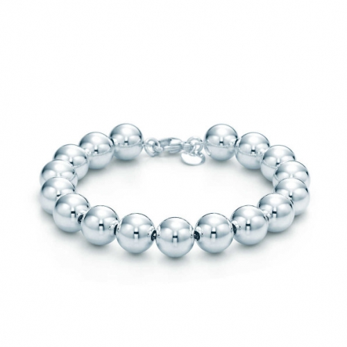 CARWENIYA® 8 mm 925 Silver plated Beads Bracelet